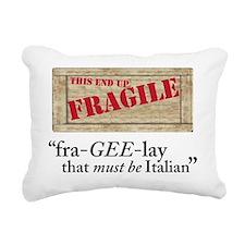 fragile copy Rectangular Canvas Pillow