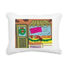 xmas store Rectangular Canvas Pillow