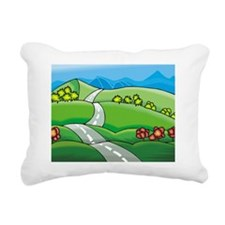 windy road Rectangular Canvas Pillow