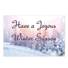 Joyous Winter Season Postcards (Package of 8)
