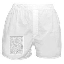 SantaClaus_greetingCard_V_F_BW_v1 Boxer Shorts