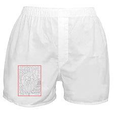 SantaClaus_greetingCard_V_F_red_v1 Boxer Shorts