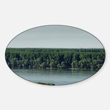 Meeting from Sava and Danube river  Sticker (Oval)