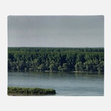 Meeting from Sava and Danube river f Throw Blanket