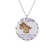 PonyArrive_Purple Necklace Circle Charm