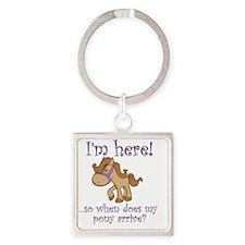 PonyArrive_Purple Square Keychain