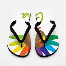 Gina-the-turkey Flip Flops
