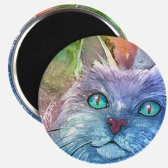 Blue Cat larger Magnet