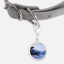 The shady shores of Grasmere L Small Round Pet Tag
