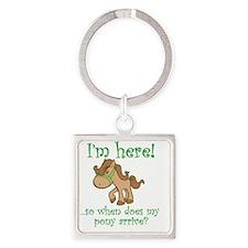 PonyArrive_Green Square Keychain