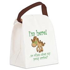 PonyArrive_Green Canvas Lunch Bag