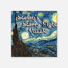 "Stefans Square Sticker 3"" x 3"""