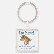 PonyArrive_Blue Square Keychain