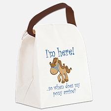 PonyArrive_Blue Canvas Lunch Bag