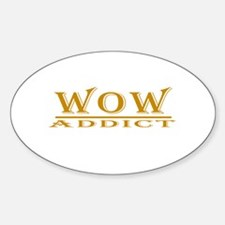 WoW Addict Oval Decal