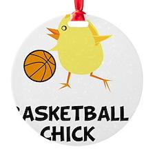 FBC Basketball Chick Black Ornament