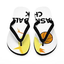 FBC Basketball Chick Black Flip Flops
