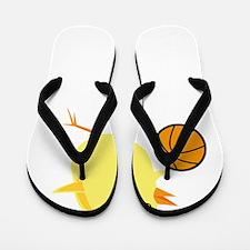 FBC Basketball Chick White Flip Flops