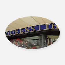 Queen's Theatre. Oval Car Magnet