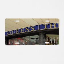 Queen's Theatre. Aluminum License Plate