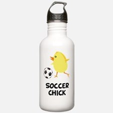 FBC Soccer Chick Black Water Bottle