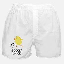 FBC Soccer Chick Black Boxer Shorts