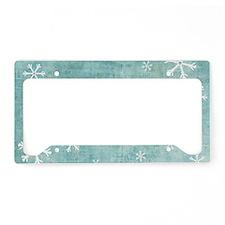 Sad Snowflakes License Plate Holder