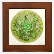 Quan Yin Green Framed Tile