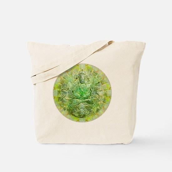 Quan Yin Green Tote Bag