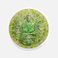 """Quan Yin Green 3.5"""" Button"""