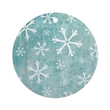 Sad Snowflakes Round Ornament