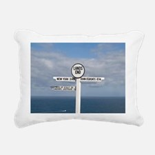 Southernmost tip of Engl Rectangular Canvas Pillow