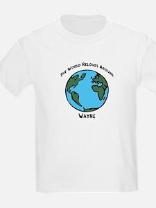 Revolves around Wayne Kids T-Shirt