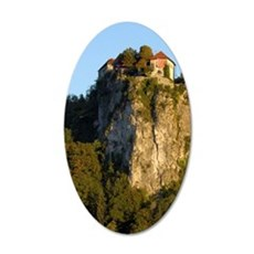 Slovenia, Bled, Lake Bled, B 35x21 Oval Wall Decal