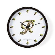 Phyllis Initial R Wall Clock