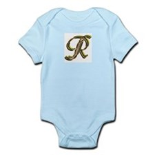Phyllis Initial R Infant Creeper
