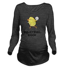 FBC Volleyball Chick Long Sleeve Maternity T-Shirt