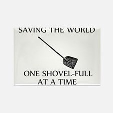 one shovel full at a time tran Rectangle Magnet