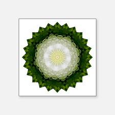 """Moon Star Yoga Mandala Shir Square Sticker 3"""" x 3"""""""