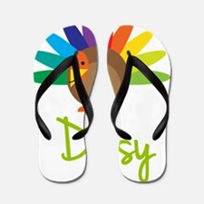 Daisy-the-turkey Flip Flops