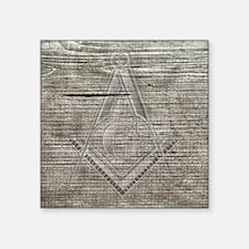 """wood base plaque copy Square Sticker 3"""" x 3"""""""