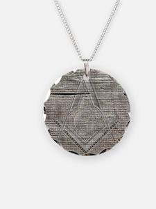 wood base plaque copy Necklace