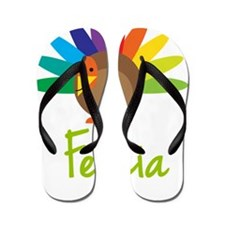 Felicia-the-turkey Flip Flops