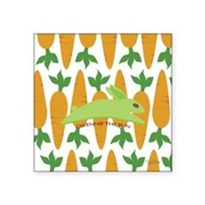 "Gwennie Carrot 10x10 Square Sticker 3"" x 3"""