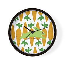 Gwennie Carrot 10x10 Wall Clock