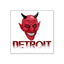 "Detroit-10trans Square Sticker 3"" x 3"""