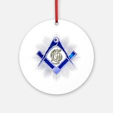 Masonic Blue Lodge Round Ornament