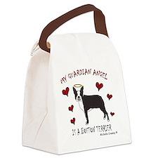 BostonTerrierBlk Canvas Lunch Bag