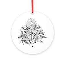 Masonic Working Tools Round Ornament