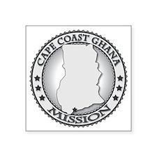 "Cape Coast Ghana LDS Missio Square Sticker 3"" x 3"""